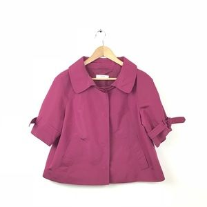 Prada Jacket Maroon Silk Evening Blazer Crop 40